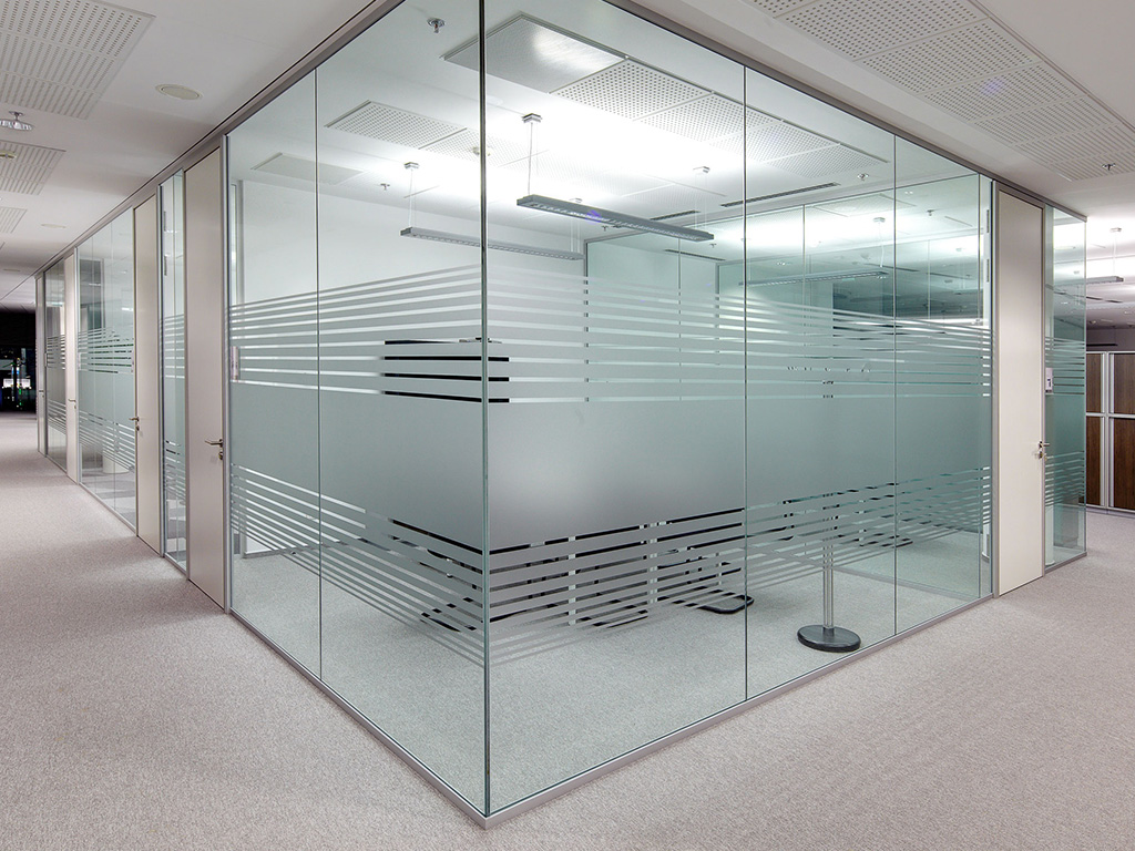 Glass partitions glass systems Office partition walls with doors