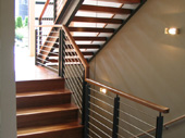 Powder coated steel railings