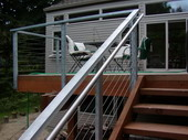 Steel railings with cable